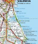 Mapa red viaria de Parque Natural de la Albufera