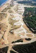 Foto aérea de la regeneración dunar del Frente costero de El Saler